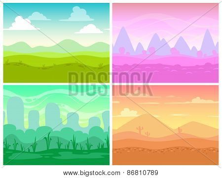 cartoon landscapes