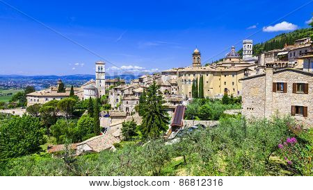 Assisi - medieval historic town in Umbria, Italy