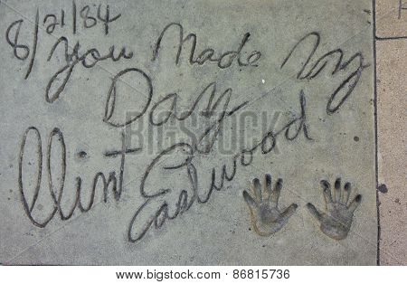 Clint Eastwood Handprints