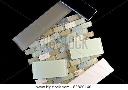 Backsplash And Wall Tiles Against Black