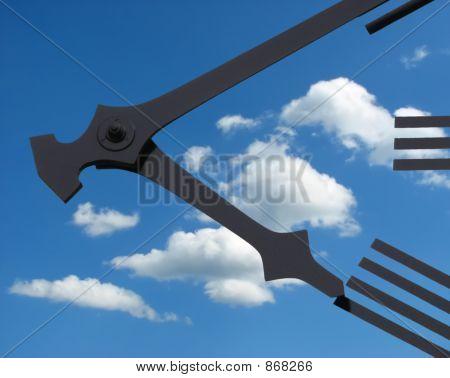 Небо циферблата часов