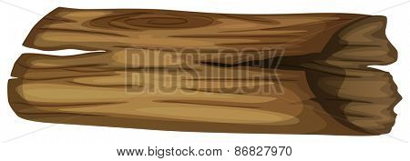Single piece of log for firewood