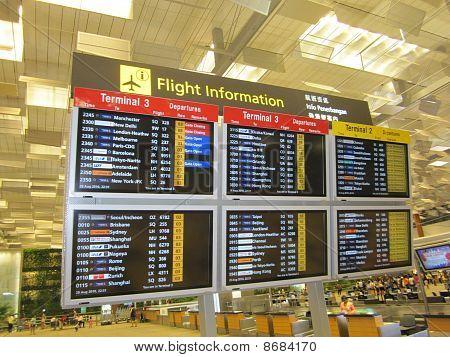 Singapore Terminal 3 Flight Information