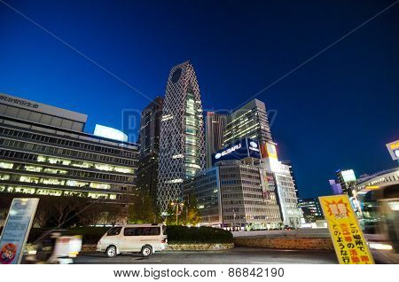 Tokyo, Japan - November 23, 2013: Street Life In Shinjuku, Tokyo