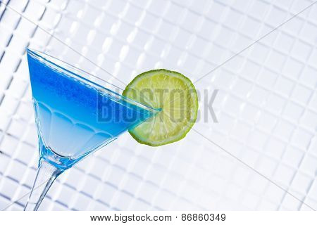 Molecular mixology - Cocktail with caviar fresh lemon poster