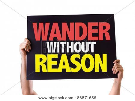 Wander Without Reason card isolated on white poster