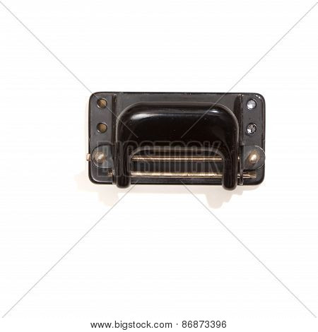 Old Hole-puncher, Top View, Isolated On White