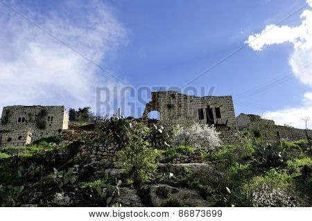 Old Ruins Of Lifta Village.
