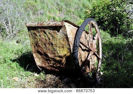 Broken Rusty Trolley.