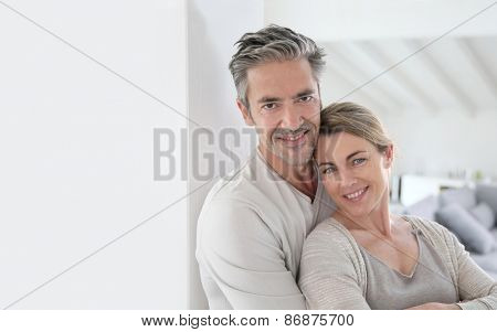 Portrait of mature couple being happy