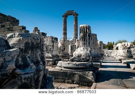 Ruins Of Temple Of Apollo In Didyma
