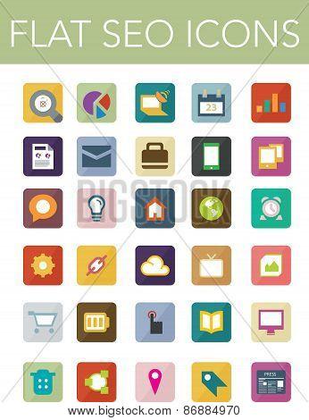 Flat Seo Icons