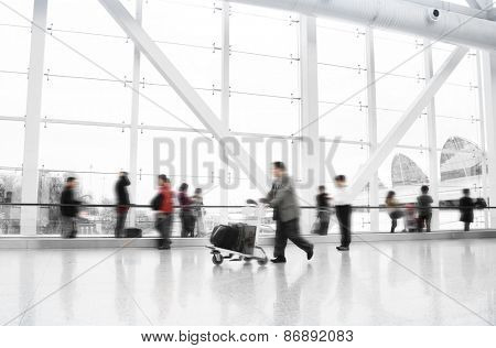 Passengers in guangzhou International Airport Airport