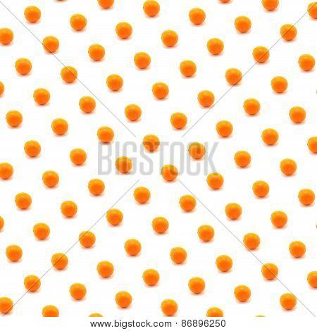Orange Pattern With White Backdrop