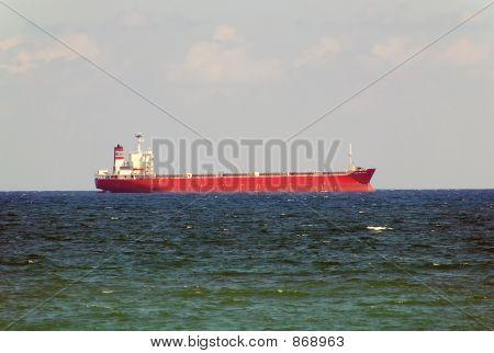 Cargo Ship Entering Port