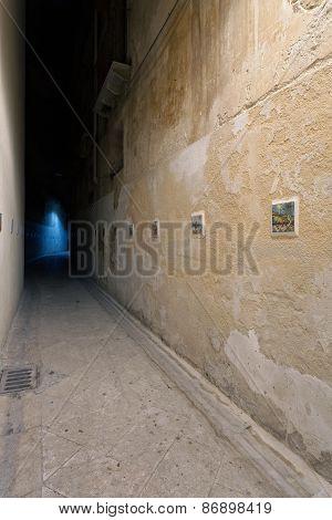 Narrow Alley In Mazara Del Vallo Old Centre