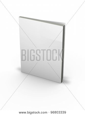 3D Magazine With Empty Cover, Standing On Floor