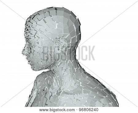 3D Abstract Humanoid Person, Technology, Internet Life Abstract Concept
