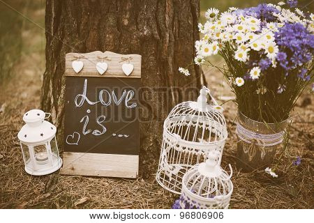 Love Is - Inscription For Wedding