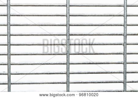 BRC secuurity type fence with isolated background