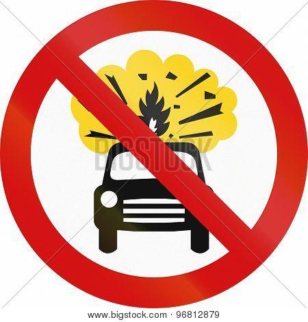 No Flammable Goods In Ireland