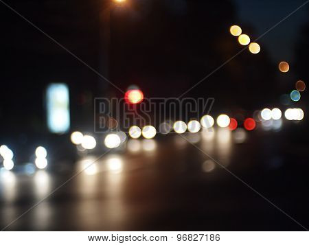 Night Scene - Defocused Car