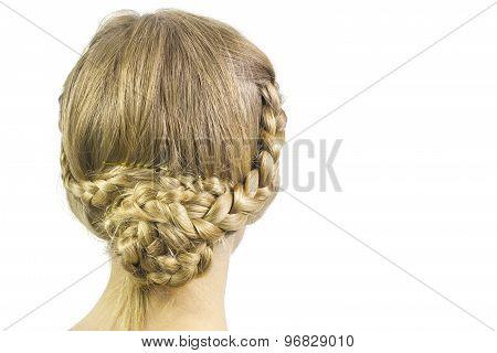 Bun braid hairstyle