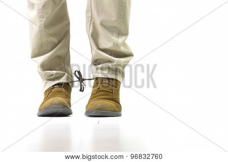 Shoelace prank