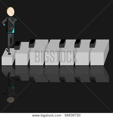 Person On A Piano