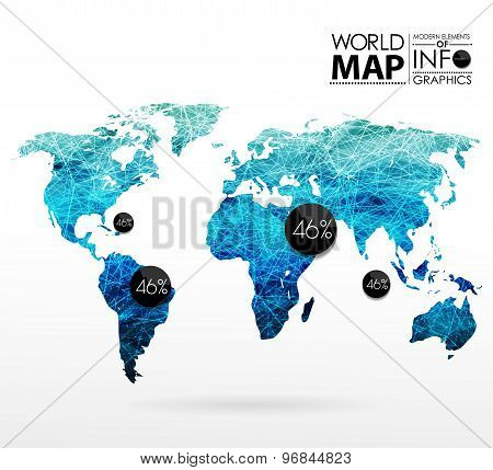 Vector y foto world map background polygon bigstock world map background in polygon gumiabroncs