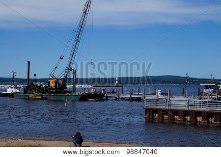 Crane at the Petoskey Marina