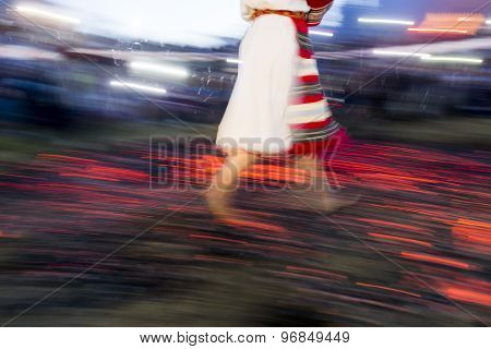 Nestinar Woman Walking On Fire