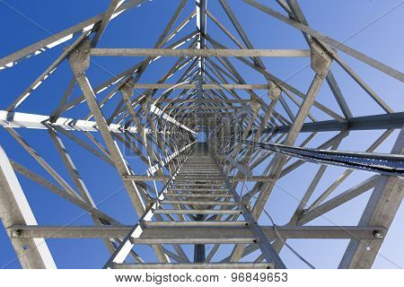 Ladder Stairs Of A Communication Tower