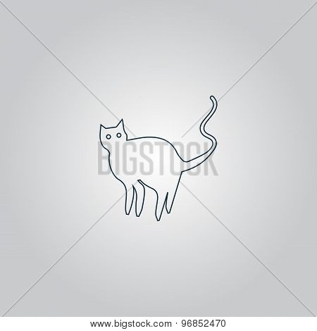 Evil Cat silhouette, vector