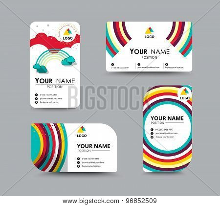 Business Contact Card Template Design. Vector Stock