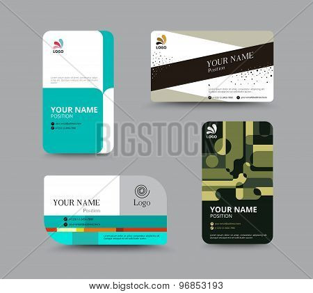Business Card Template, Business Card Layout Design, Vector Illustration