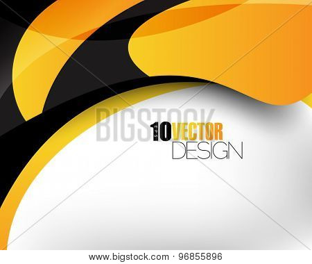 hi-tech clean abstract wave elements corporate business background eps10 vector