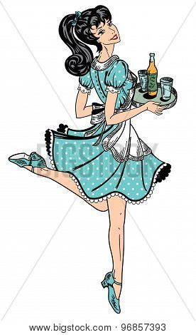 Waitress in Dress