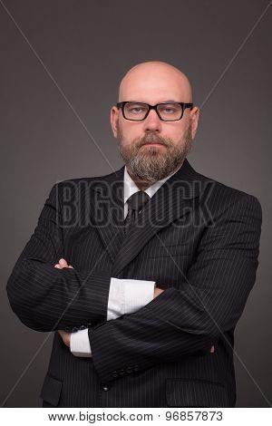 Hipster bearded businessman