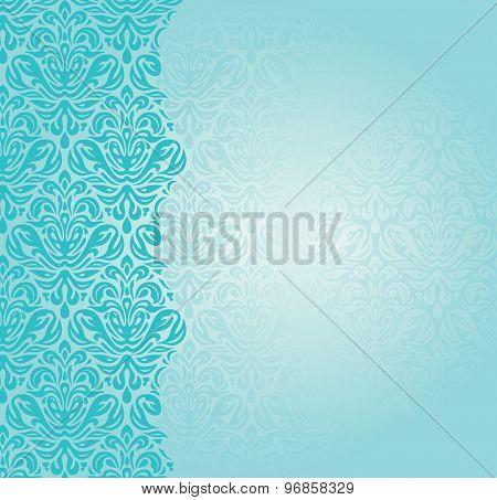 Fashionable retro turquoise invitation design