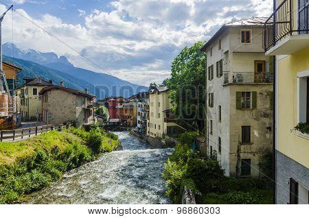 Italian Alpine urban commune of Ponte di Legno