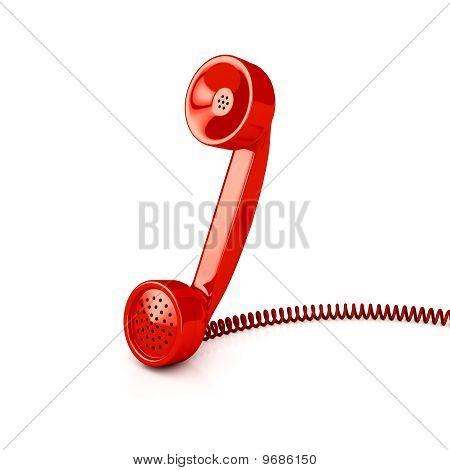 Telephone Tube Over White
