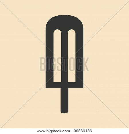 Flat in black and white mobile application ice lolly