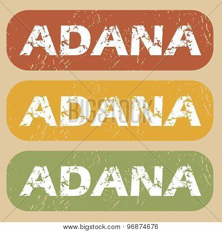 Vintage Adana stamp set