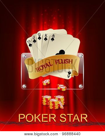 Casino background with poker combination.