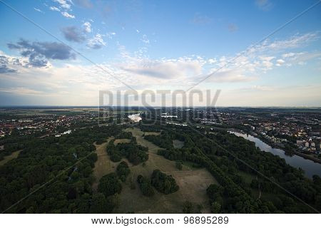 View Of Magdeburg Rotehorn Park