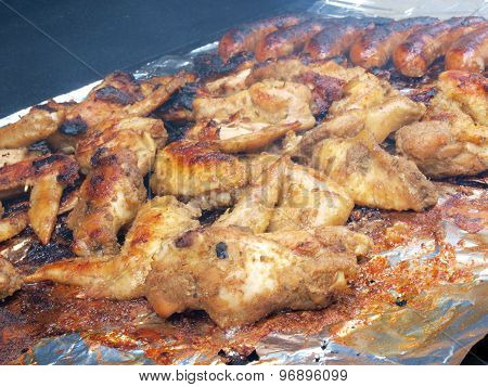 Chicken And Sausage On The Grill