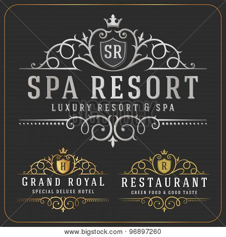 Luxurious Royal Logo Vector Re-sizable Design Template Suitable For Businesses