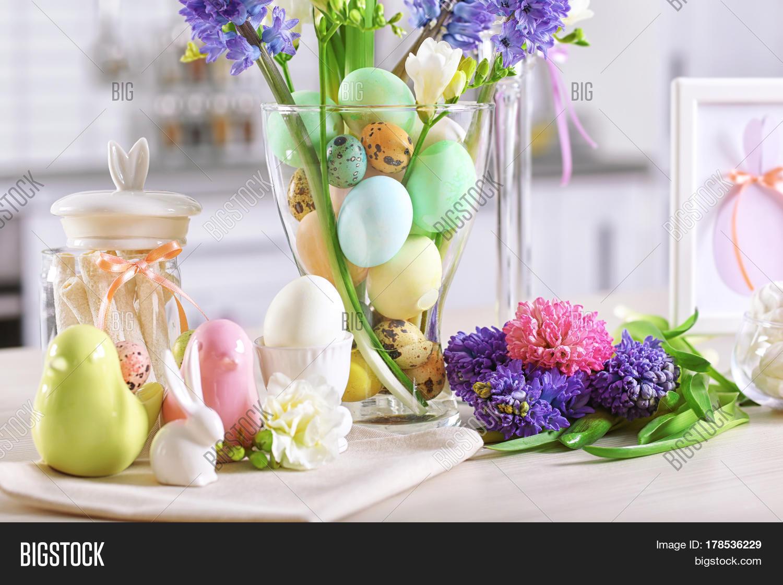 Imagen Y Foto Beautiful Easter Decorations On Bigstock