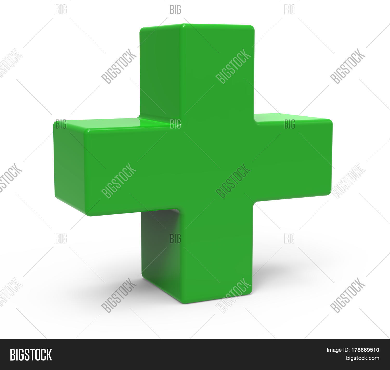 Green Plus Sign Image Photo Free Trial Bigstock